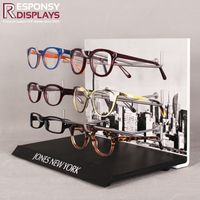 Environmental PVC & Metal Table Display Stand With 3 Tier Hooks For High-end Glasses