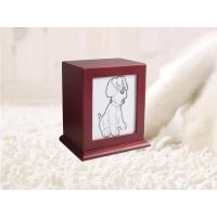 wooden pet urn box with photo frame thumbnail image
