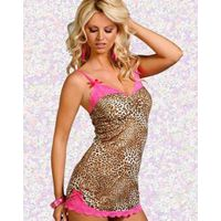 Excellence Sexy Leopard Sleep Wear Babydoll Nighties Lingerie Wild thumbnail image