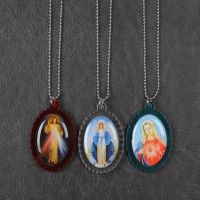 Divine Mercy pendant necklace, Our Lady of Grace pendant necklace, Immaculate heart of Mary necklace thumbnail image
