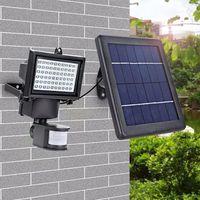 60 PCS Supper Bright LED Aluminium PIR Motion Sensor LED Solar Wall Light for Security Lights Outdoo thumbnail image