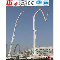truck-mounted concrete pump with boom