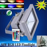 20w 30w 50w RGB outdoor led flood light for cob square Waterproof IP65 high power led floodlight wit