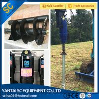 earth auger, auger drive for excavator, backhoe, skid steer loader