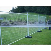 Temporary Fence with Plastic Concrete Base