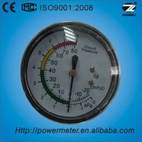 63mm axial mounting capsule pressure gauge manufacture with CE&ISO9001