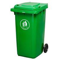 240L plastic wheelie waste bin