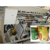 Metal can labeling machine