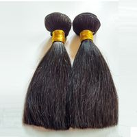 Brazilian hair Remy hair Natural black Straight Double weft 100g 8inch afro hair thumbnail image