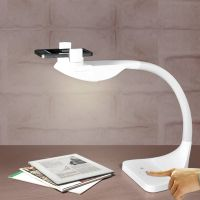 LED lamp with iphone dock and smartphone scanner