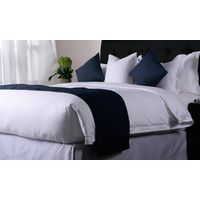 Luxury Designs Satin Stripe 100 Egyptian Cotton Single Bedding Linen Sheet Set White Bed Sheets Hote thumbnail image
