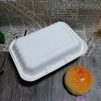Bagasse Take Out Tableware Biodegradable Disposable Lunch Box