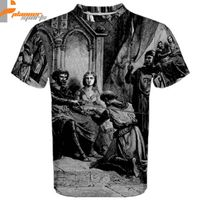 Medieval Knight Templar Sublimated Sublimation T-Shirt S,M,L,XL,2XL