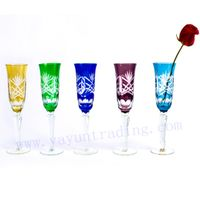 cut to clear champagne flute drinking glass