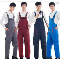 Overalls with suspenders Workshop worker's working clothes men's protective clothing women's work ju thumbnail image