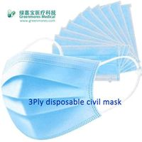 3ply disposable civil mask