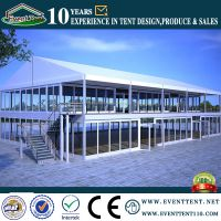 2030m China aluminum clear transparent double decker tents for sale