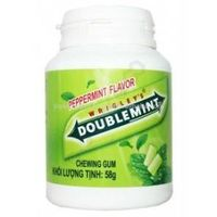 Wrigley's doublemint chewing gum peppermint 56g (jar)