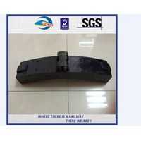 ZhongYue Composite Railway Brake Blocks For Train Refer To Standard GB / T 9439-1988