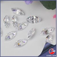 Clear White Color Marquise Top Quality Synthetic Diamond Cubic Zirconia