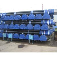 Seamless Steel Pipe with Beveled End, Black Paint