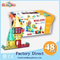 48 pcs puzzle educational toys Building Blocks magnetic tiles toys