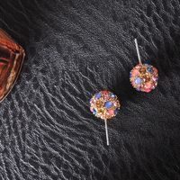 Warm Colour rhinestone OEM Earrings For Women