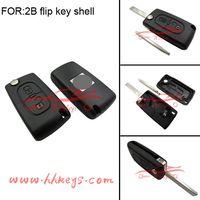 Citroen 3 Buttons(truck button) 307 Flip Key Shell (Blade No Groove) thumbnail image