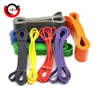 Weightlifting latex resistance power bands for exercise/fitness/workout