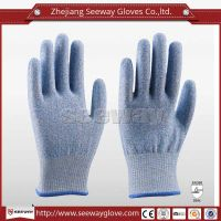 SeeWay F512 High Performance Level 5 Food Grade Cut Resistant Gloves Mixed with PE and Glass Fiber