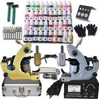 Complete Tattoo Kit Professional Machine Gun Supplies