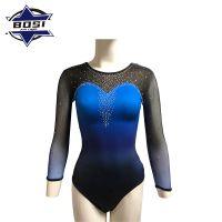 Custom gymnastic leotards high quality wholesale competition uniforms low price thumbnail image