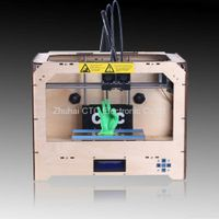 CTC 3D printer wooden with dual-extruder