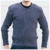 Woolen blended military style jumper
