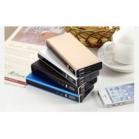 Factory supply large capacity 15000mah  portable metal power bank with dual usb 2.1A charging