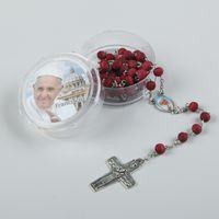 Painted Competitive price christian handmade religious wooden rosary