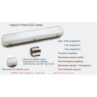 Led Batten Light with motion sensor and emergency optional