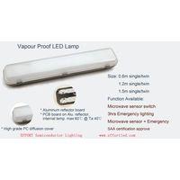 Led Batten Light with motion sensor and emergency optional