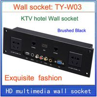 Wall socket Universal plug HDMI VGA USB Network RJ45 Video information outlet panel /multimedia home thumbnail image