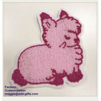 Chenille Patch Pink Rabbit Patch ODM Custom-Made Iron on Back Patch Embroidery badge thumbnail image