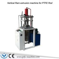 Vertical ram extruder machine for PTFE Rod