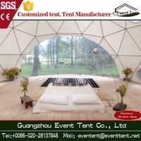 beautiful luxury decoration waterproof geodesic dome tent for sale