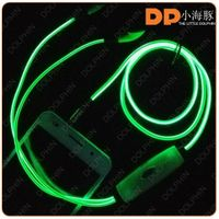 High quality sterero earphone glowing earphone el/led earphone for phone