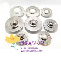High duty 15.875mm Dia SP15 SP-15 stainless steel conveyor roller ball transfer unit thumbnail image