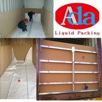 Bulk liquid storage and transportation flex bags