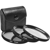 77mm UV filter, CPL filter, ND8 filter set with filter case