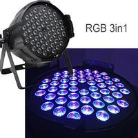 PRO DMX RGB3in1 Full Color 54pcs3W LED Par Can Light Sound Activation for Disco Party Decoration thumbnail image