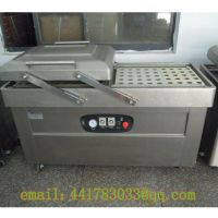DZ-600 / 2S stainless steel double chamber vacuum packaging machine Hot dog Beef and chicken vacuum