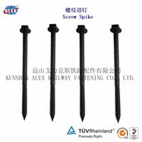 railway screws, coach screw, railroad screw spike