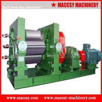 Rubber 3-roller refiner mixing mill RM100 series from Maccsy